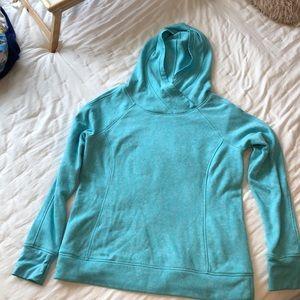 Aqua pullover sweatshirt